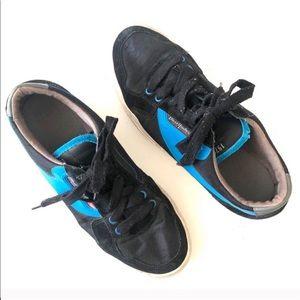 Diesel Blue and Black Clawster Low Sneakers